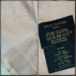 Louis Vuitton Accessories - NEW LOUIS VUITTON Peach LV Monogram Scarf Shawl